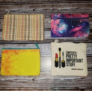 Lot of 4 Ipsy bags